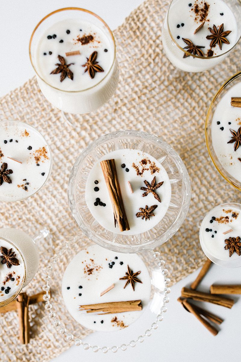 And invite the scents of the season indoors with crackling candles. -