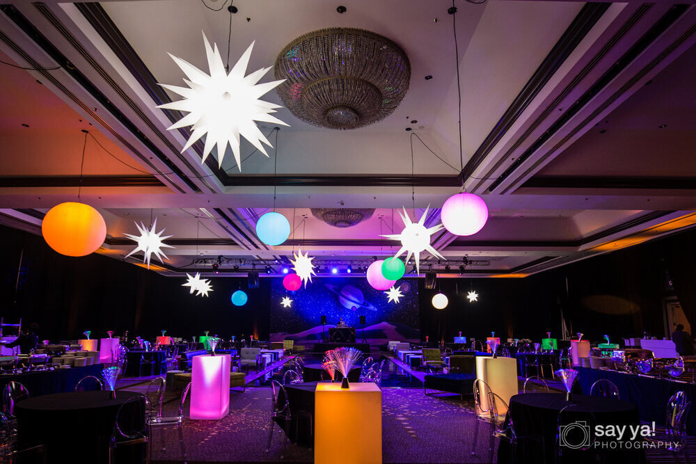 Front View Party Hall Night Decoration - Entire Productions