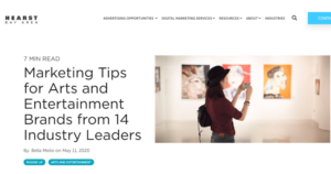 Marketing Tips for Arts and Entertainment Brands from 14 Industry Leaders
