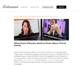 What Event Planners Need to Know About Virtual Events