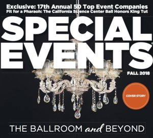 Special Events Magazine We're ecstatic to be named along some very fine event companies including Cerbelli Creative in NYC, Corporate Magic in Dallas, Department in Moscow, E=MC2 Events in Calgary, Enterprise Event Group in San Rafael, EventWorks in Los Angeles, Freeman, George P. Johnson, InVision Communications, Jack Morton, and Opus Agency.