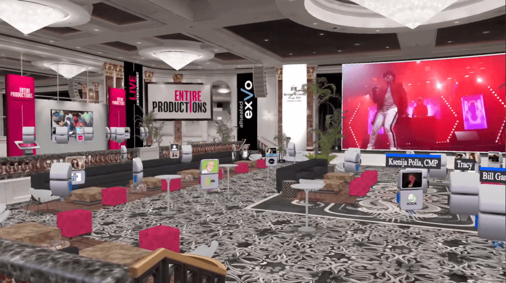 Virtual 3D Rendering of The Beverly Wilshire Hotel with Entire Productions Branding