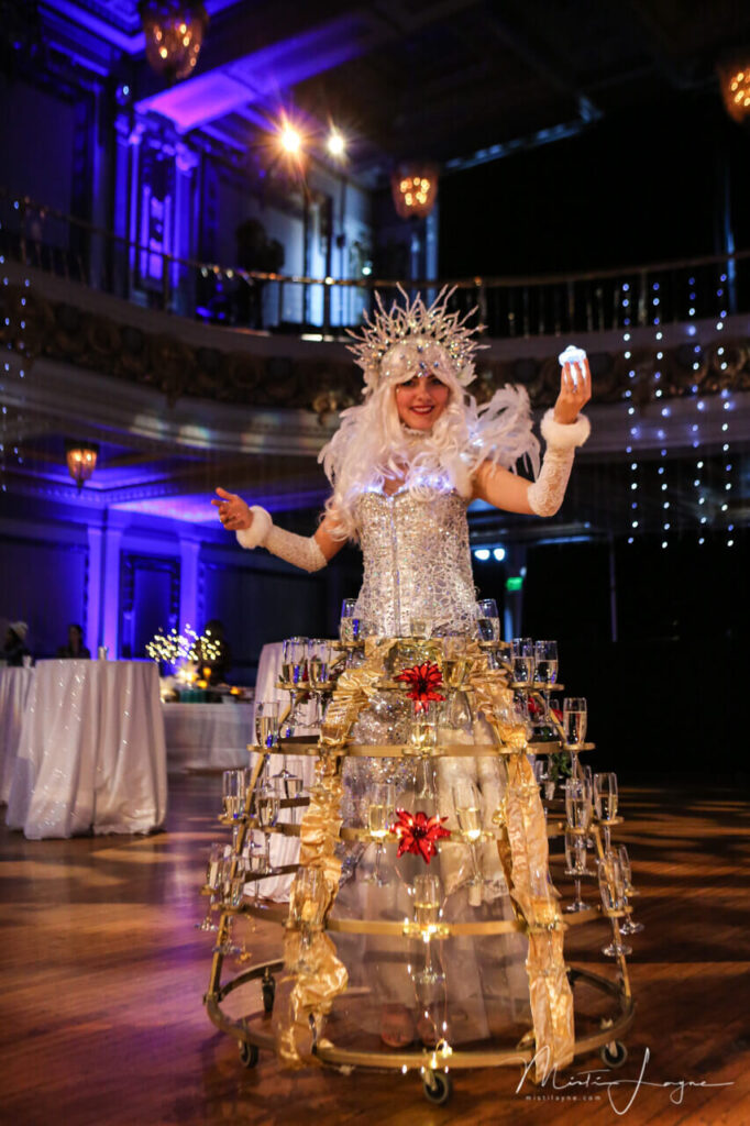 Lady Drinks Serve with Dance Performance