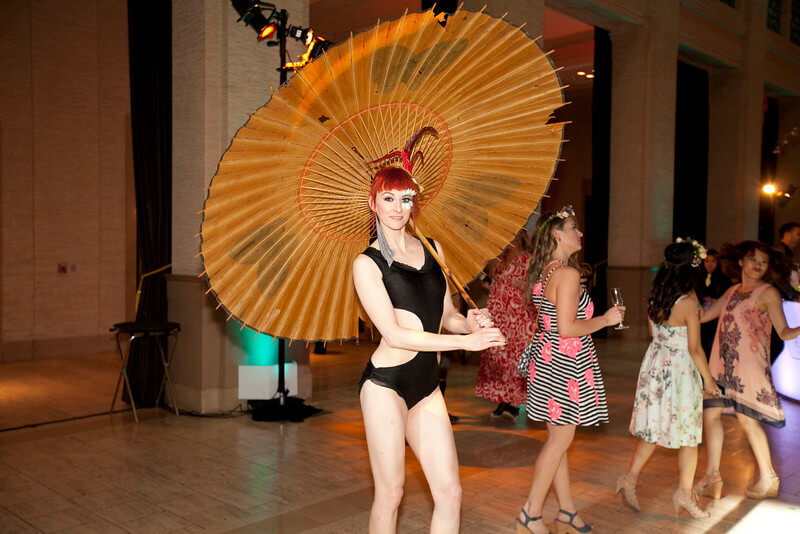 Large Fan with Dance Artists Entire Professional