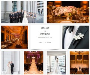 Look at Mollie and Patrick's wedding here - choir and The (415)s perform
