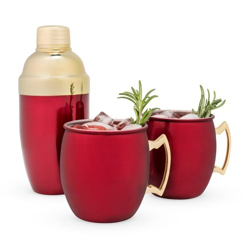 Red and Gold Mule Mug + Cocktail Shaker Set    $69.99