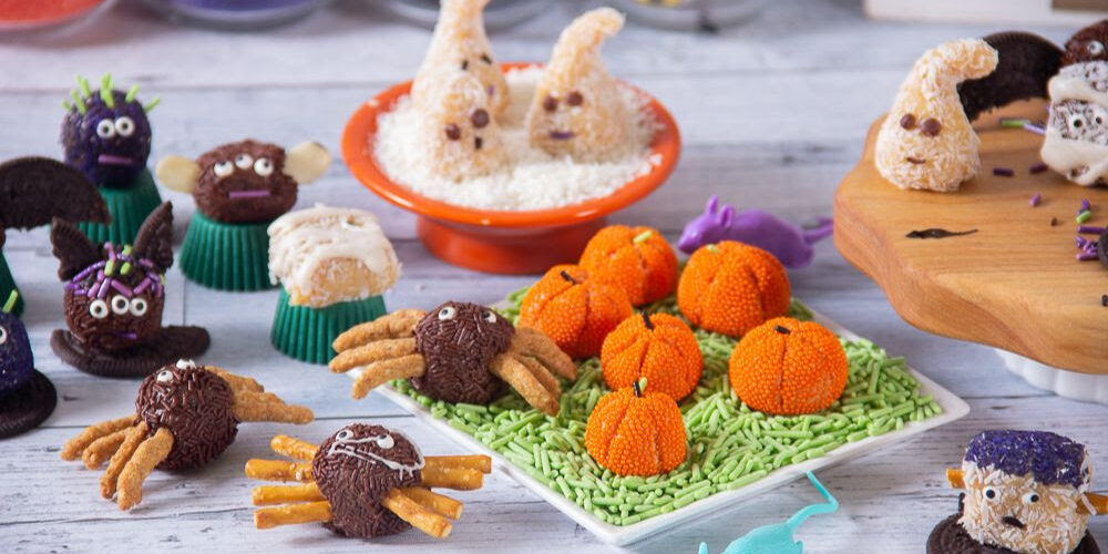 Event management company Entire Productions Halloween chocolate making photo